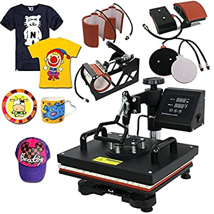 67e04bc8 Amazon.com: ZENY Digital Heat Press Transfer 6 in 1 Swing Away Heat Press  Machine for T-Shirt Mug Hat Plate Cap(6in 1): Arts, Crafts & Sewing