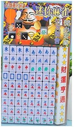 Ogquaton Nuevos Juegos de Mesa de la Familia China Mahjong Juego de Mahjong portátil Juego de Mahjong Antiguo Chino Juegos Familiares Muy práctico y Popular: Amazon.es: Hogar