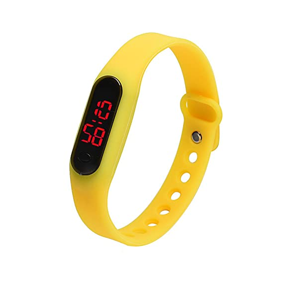 Amazon.com: Liouhuble Rubber LED Womens Mens Date Sports Bracelet ...