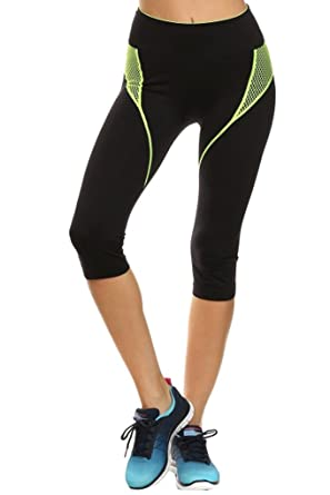 65ece7459bb530 Simplicity Junior Seamless Active Capris Workout Pants, Stretch Fit at  Amazon Women's Clothing store: