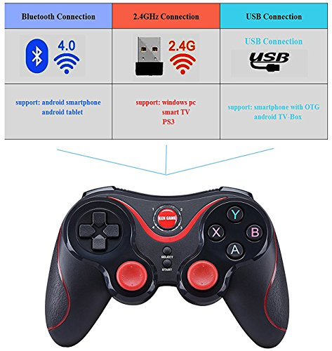Maegoo PS3 Controller, Wireless Controller Gamepad for PS3 PC Smartphone  Bluetooth Gamepad Joystick Controller for PC / PS3 / Smart TV/Smartphone  with