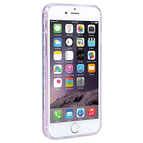 WE LOVE CASE Coque iPhone 6 Plus, Coque iPhone 6S Plus de Protection en Hard Dur Bling Coque iPhone 6S Plus Paillette Liquide Transparent avec Motif Antichoc Bumper Mince, Ultra Slim Original Fine Off