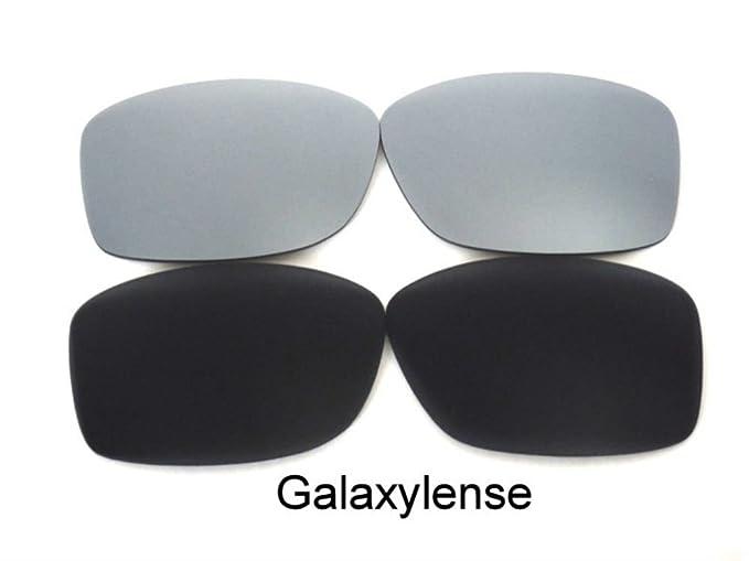 Galaxy Lentes De Repuesto Para Oakley Jupiter Squared negro y titanio Polarizados 2 pares - Transparente