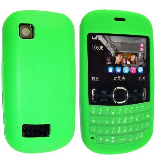 reputable site 0671e 5e4cd GREEN COLOUR KEY PAD SILICONE PROTECTION CASE COVER FOR NOKIA ASHA ...