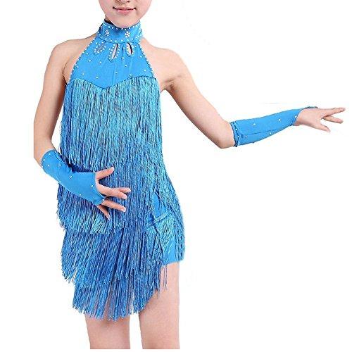 Di Vestiti Frangia Delle Blu Del Sodial Latina Della Dalla Ballo Sfera Ragazze 100cm Latino Vestito Da r UqwFAwx5P