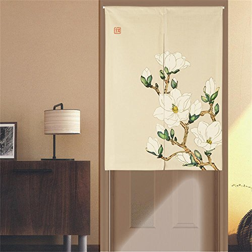 MR FANTASY Japanese Noren Doorway Curtain/Tapestry Blackout Door Durtain Panel Floral Chinese 33''X47''