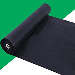 kdgarden Premium 5oz Pro Weed Barrier Landscape Fabric Ground Cover Heavy Duty Commercial Anti-Weed Gardening Mat, 4ft x 100ft, Black