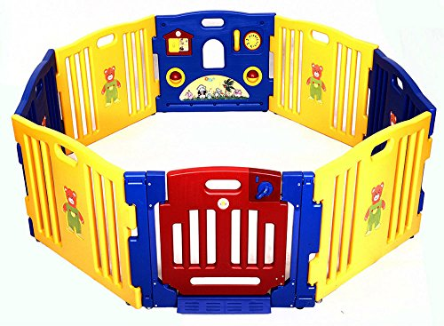 New Baby Playpen Kids 8 Panel Safety Play Center Yard Home Indoor Outdoor Pen from Unbranded