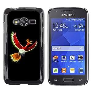 Mystical Red Bird - Metal de aluminio y de plástico duro Caja del teléfono - Negro - Samsung Galaxy Ace4 / Galaxy Ace 4 LTE / SM-G313F