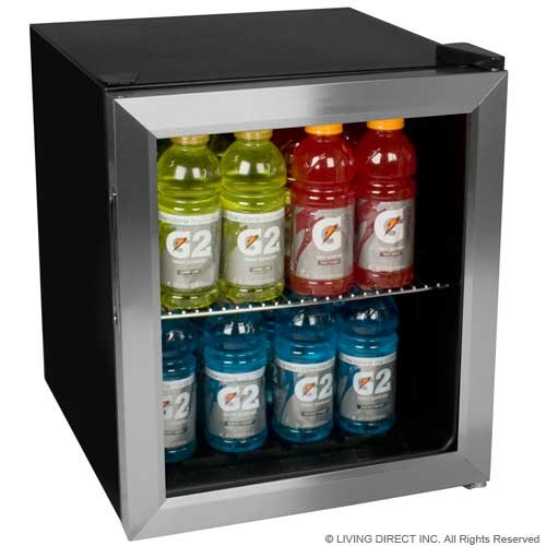 EdgeStar 62-Can Beverage Cooler - Stainless (Double Manual Refrigerator)