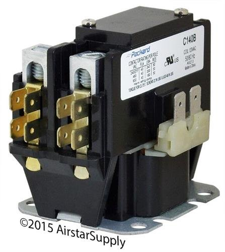 Single Pole Contactor - Packard C140b 1 Pole 40 Amp Contactor 120 Volt Coil Contactor