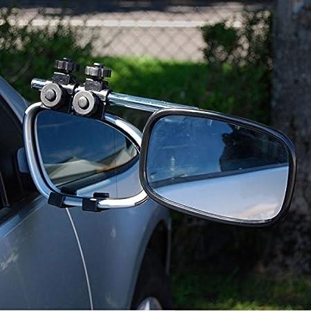 Peugeot 2008 Caravan Trailer Extension Towing Dual Mirror Glass Convex Single