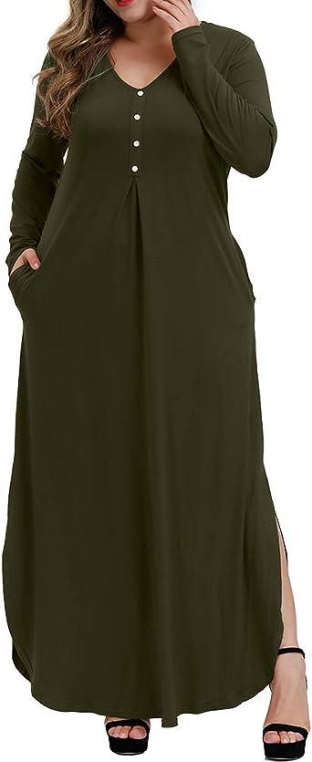 NEW GREEN Plus Size Women Short Sleeve Casual Maxi Long Dress 1X 2X 3X ORANGE US