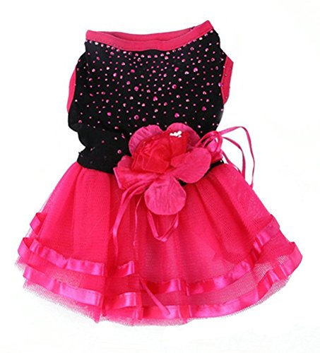 Pictures of Topsung Small Dog Clothes Dress Blingbling Tutu 7