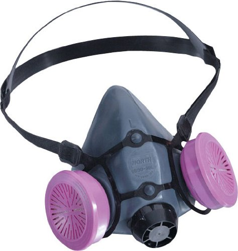 - 5500 Series Half Mask with 2 P100 Filters, Size Medium