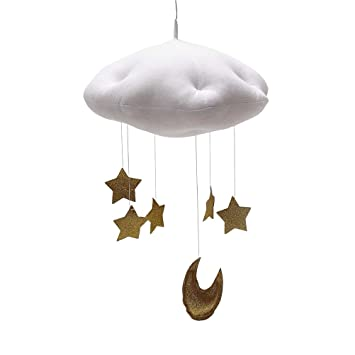 Baby Mobile for Crib Moon and Stars Baby Nursery Ceiling Crib Mobile Kids Room
