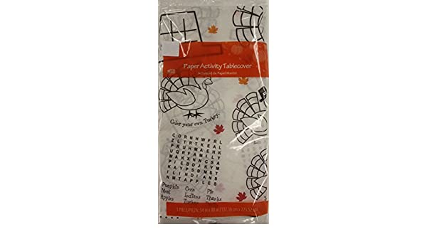 Thanksgiving Table Cloth Paper Childrens Activity Tablecover