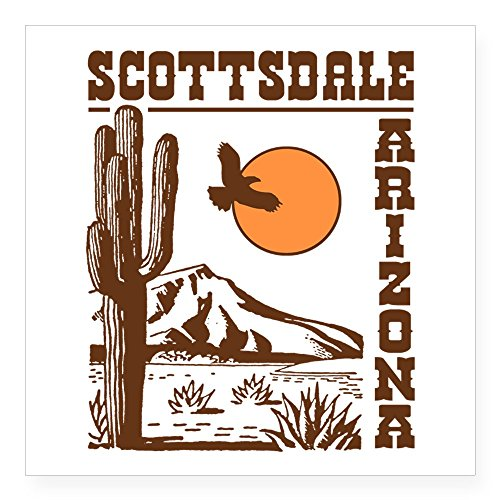 CafePress - Scottsdale Arizona Sticker - Square Bumper Sticker Car Decal, 3