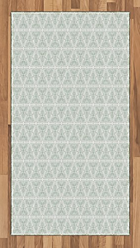 Vintage Area Rug by Ambesonne, Classical Art Nouveau Style Floral Pattern with Renaissance Inspirations, Flat Woven Accent Rug for Living Room Bedroom Dining Room, 2.6 x 5 FT, Pale Sage Green (Art Nouveau Dining Room)