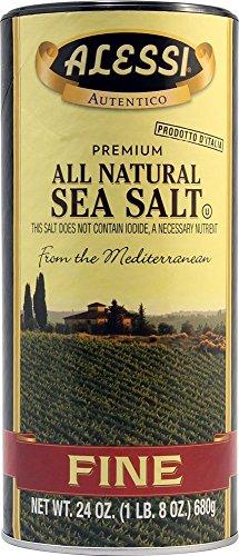 (ALESSI - Fine Mediterranean Sea Salt, (2)-24 OZ Pkgs)