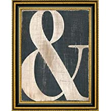 """Framed Canvas Print Wall Art Ampersand by Alli Rogosich - 15"""" x 20"""" Ready to Hang"""