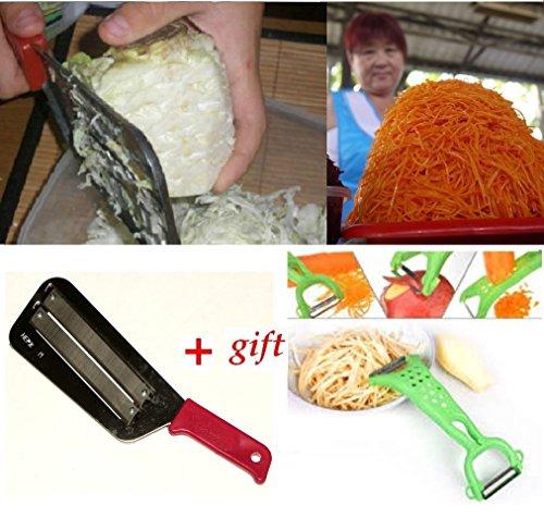 Kitchen Knife Slicer Cabbage Chopper Shredder Sauerkraut Grater+gift Peeler