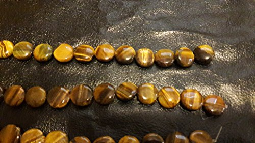 16 mm Coin Tiger Eye Beads (4) Strands 11pc Each (Tiger Coin Eye)
