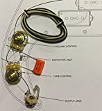 TAOT Wiring Kit - Fender Precision Bass P-Bass® - Orange Drop Cap