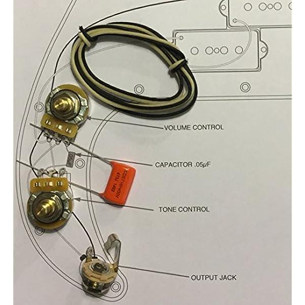 Amazon.com: TAOT Wiring Kit for Precision Bass P-Bass - Orange Drop Cap:  Musical InstrumentsAmazon.com