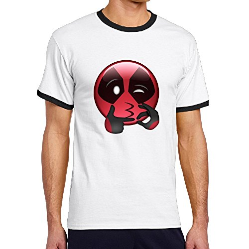Custom Men's Two-toned Funny Smilely Cartoon Role Tee Shirt Black Size XXL (Marvel Universe Live compare prices)