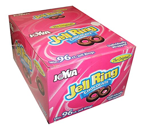 Joyva Original Chocolate Covered Jell Rings 96 Count -