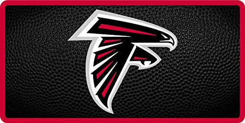 - Atlanta Falcons TEAM BALL Style Deluxe Acrylic Laser Cut Mirrored License Plate Tag Football