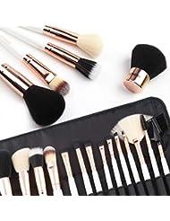 ZOREYA Makeup Brushes Premium High- End15pc Rose Gold...