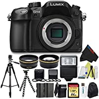 Panasonic Lumix DMC-GH4 Mirrorless Micro Four Thirds Digital Camera (Body) + Pixi-Advanced Accessories Bundle At A Glance Review Image