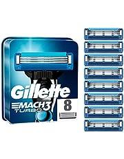 Gillette Mach3 Turbo-reservemes voor herenscheermes, ontworpen met precisiesnijstaal, voor een lange levensduur van 15 scheerapparaten met blad 8