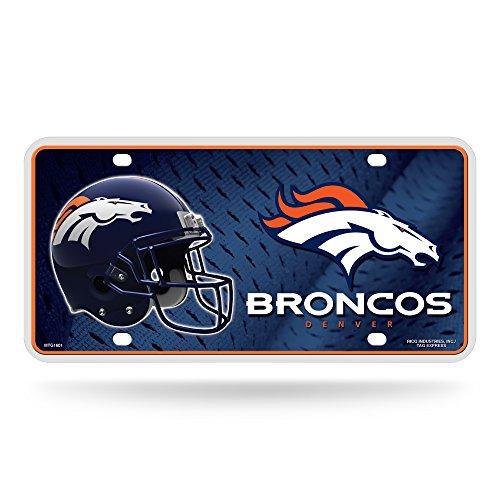 (NFL Denver Broncos Metal License Plate Tag)