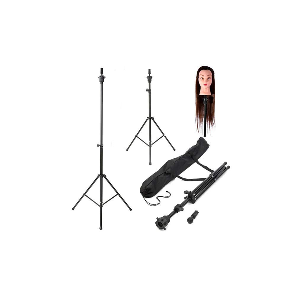 Rigel7 Wig Stand Adjustable Wig Head Tripod Stand Mannequin Tripod Hairdressing Training Holder Canvas Block Wig Head Stand with Bag by Rigel7