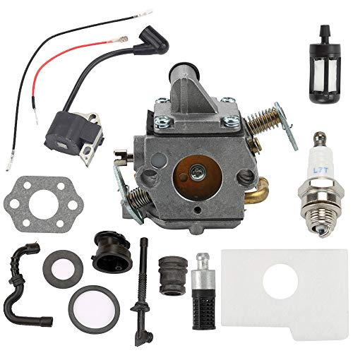 Mckin Carburetor + Ignition Coil + Air Filter fits Stihl MS170 MS180 017 018 MS170C MS180C Chainsaw ()
