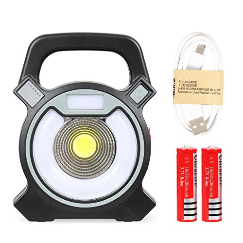 T-Sun COB LED Portable Work Light 5W 1200Lumens with Micro-USB Charging Emergency Work Light Camping Lantern Power Light by T-SUN