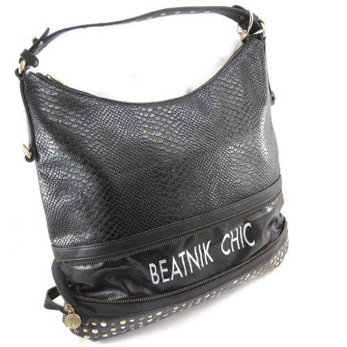 french touch borsa Scarlett lucertola nera.