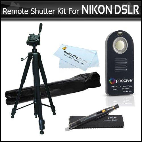 ML-L3 Wireless IR Remote Control Shutter Release Kit For Nikon D7200 D750, D5500, D5300, D3300, D5200, D3200, D5100 D7000 D610 D810, p7000, P7100, Nikon J1, 1 J4, S2, Nikon 1 AW1 DSLRS+ 72