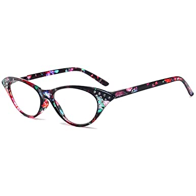 71a12c24c61 Image Unavailable. Image not available for. Color  VEVESMUNDO Reading  Glasses Women Ladies Men Cateye ...
