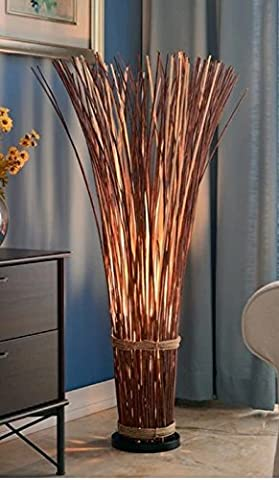 Floor Lamp for Living Room, Bedrooms Design Craft Coastal Natural Reed 46-inch Beach Decor (Lamps For Bedrooms Beach)