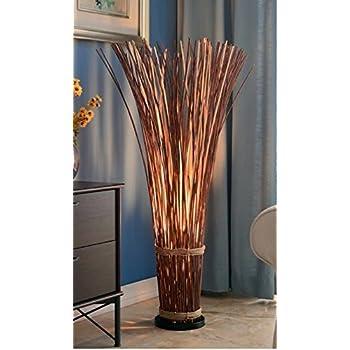 Kenroy Home 21065nr Sheaf Floor Lamp Natural Reed Wood