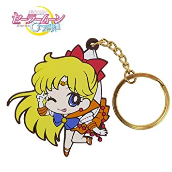 Sailor Moon Crystal Sailor Venus Llavero pellizcado: Amazon ...