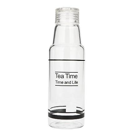 500ml Large Capacity Outdoor Travel Transparent Plastic Leak-proof Water Bottle