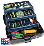 Flambeau Tackle 1737B 3 Tray Tackle Box, 15.5' x 8.75' x 8.25'