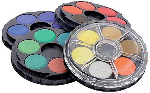(Koh-i-noor 24 Color Watercolors Wheel Stack Pack. 0171506)