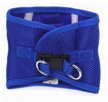CHOKE FREE REFLECTIVE STEP IN ULTRA HARNESS - BLUE - ALL SIZES - AMERICAN RIVER (Small) by Doggie (River Design)