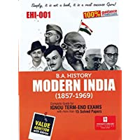 EHI 1 Modern India: 1857-1964 guide book in English Medium with previous year solved papers